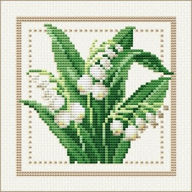 Good Life 2 Go: Free Cross Stitch Chart: Flower of the Month - May - Lily of the Valley