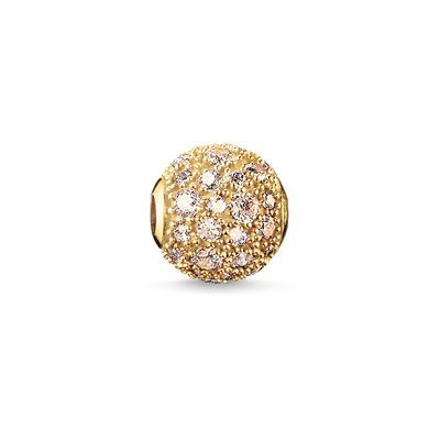 The dazzling #THOMASSABO Crushed #Pavé #bead promises a golden future full of #happiness and #wealth.  #KARMA