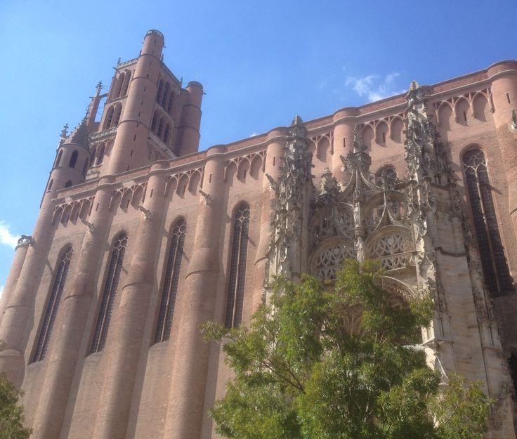 La cathédrale Sainte-Cécile, Albi, Tarn. Un siècle aura été nécessaire pour son édification, de 1282 à 1390.