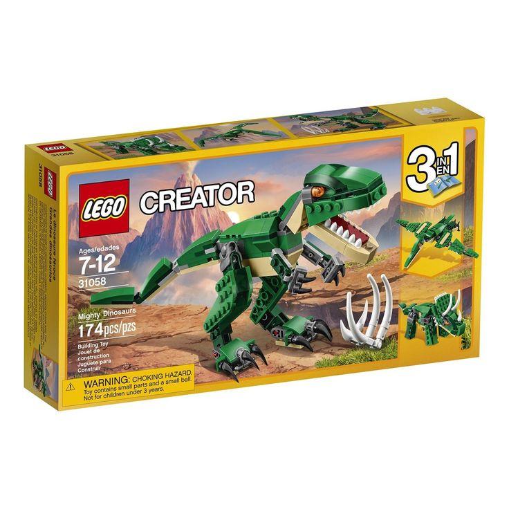 LEGO Creator 174 piece 3 in 1 Dinosaur 31058 2017 Toy Block