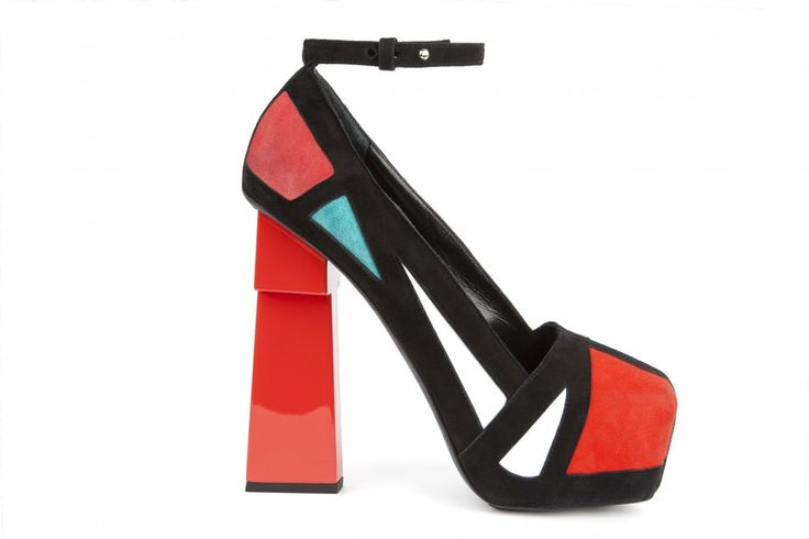 Geisha lines multi high heel shoes by Aperlaï, 2014 Like them with this Alice + Olivia look http://www.pinterest.com/pin/174021973075393832/
