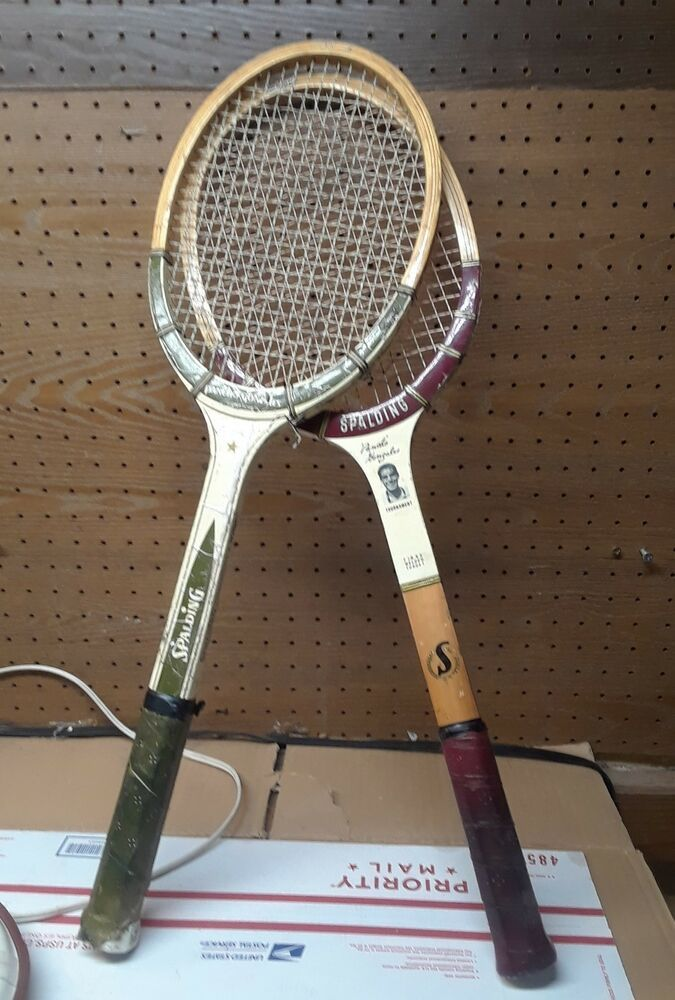 Advertisementebay Lot Of Two Vintage Wood Tennis Racquet Spalding