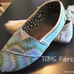 I DO need to know this!!! // Design DIY: Fabric TOMS DIY