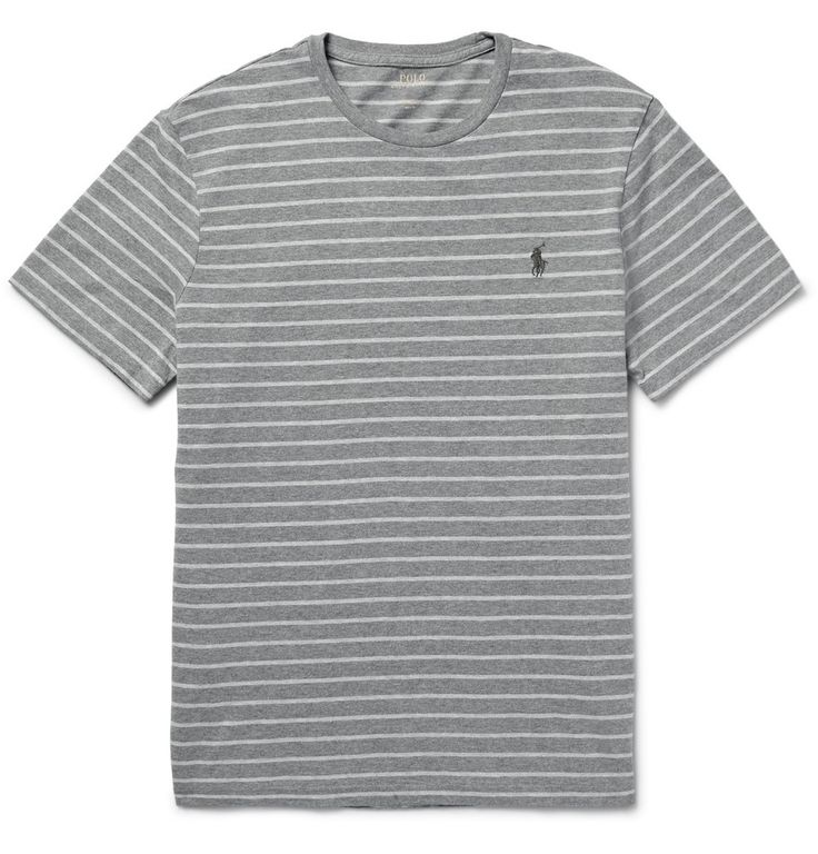 STRIPED COTTON-JERSEY T-SHIRT POLO RALPH LAUREN