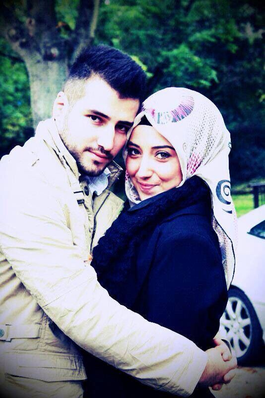 Lovely couple photo, hijab for lovely her, beard for handsome him