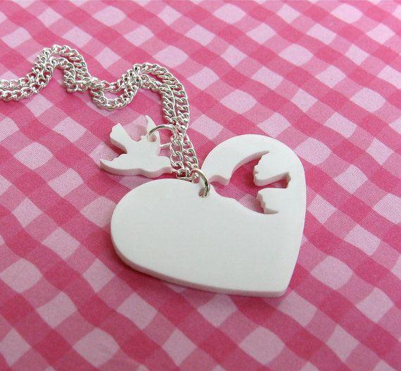 Zwei Herzen-Halskette von Missbluebirdandoscar auf Etsy