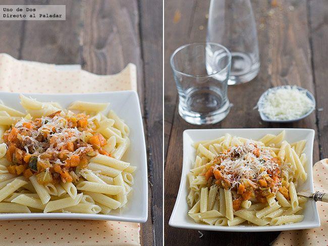 Receta de macarrones con verduras  http://www.directoalpaladar.com/recetas-de-pasta/receta-de-macarrones-con-verduras