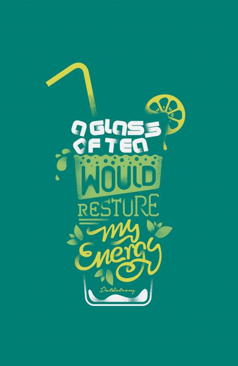 A glass of tea would restore my energy!