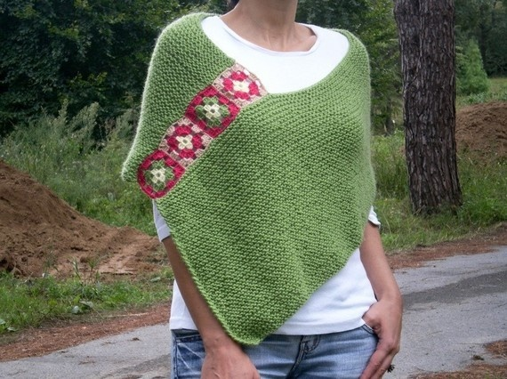 Knitting and crocheting go together well in this pattern