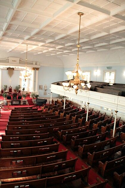 Interior of the First African church in the USA. Savannah, Ga.