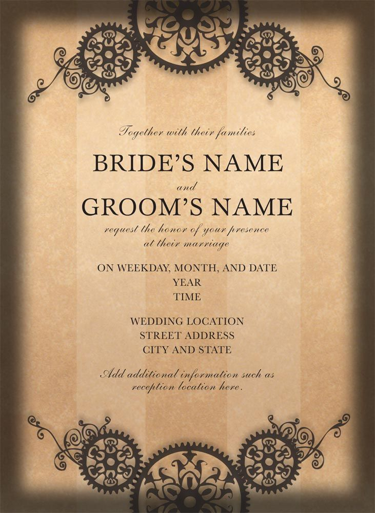 Attractive Geared Up For Love   Steampunk Wedding Invitations From 123Print  Https://www.