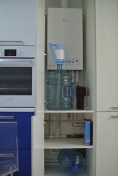Кухонные шкафы, как замаскировать газовый котел на кухне