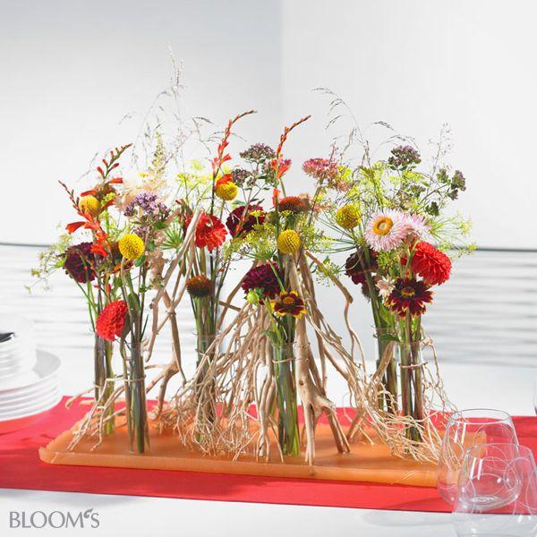 Цветочные композиции: идеи для летнего красочные украшения стола