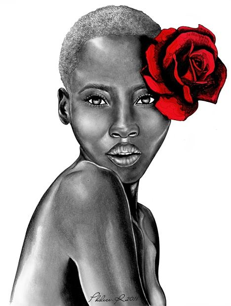 Lady with the Red Rose