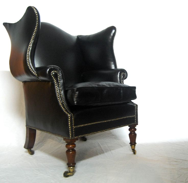 Early Nineteenth Century Mahogany   Leather Wingback Library Armchair61 best Antique Chairs images on Pinterest   Antique chairs  . Antique Library Armchairs. Home Design Ideas