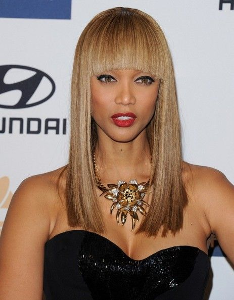 African American supermodel, Tyra Banks...