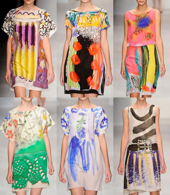 I audibly sighed (in overwhelming delight) when I saw these... London Fashion Week Spring/Summer 2013   Print Trend Highlights via patternbank