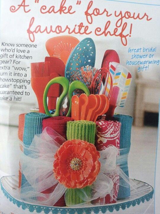 cute idea for auction basket - Kitchen Gift Basket Ideas
