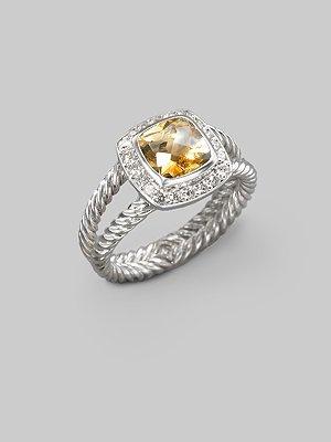 David Yurman ring: David Yurman, Blue Topaz Diamonds, Davidyurman, Style, Yurman Rings, Sterling Silver Rings, Yurman Citrine, Lists, Albion Rings