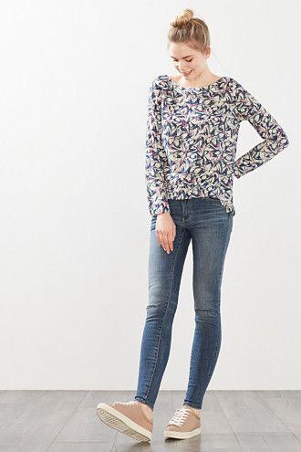 Esprit / Fließende Bluse im Tunika-Style