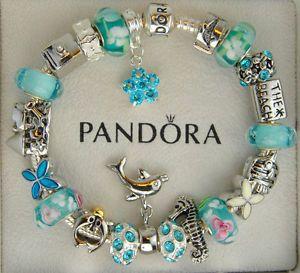 Turquose Pandora Beach Bracelet Sterling Silver W Charms Turquoise Ebay Pinterest Bracelets