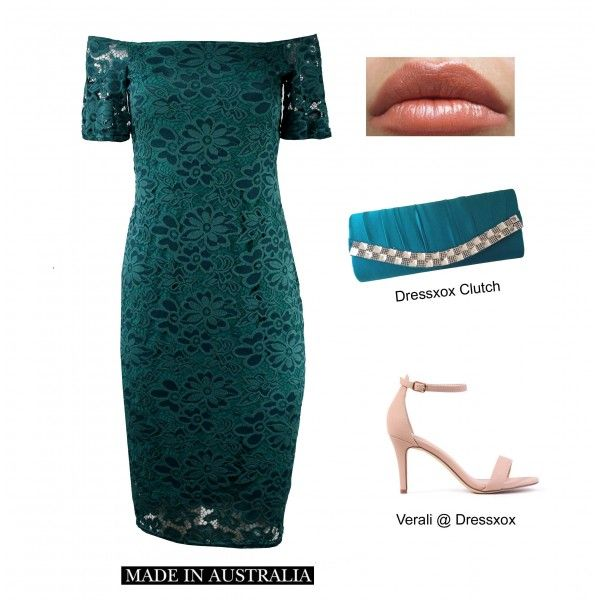 Emerald Slimming Lace Dress