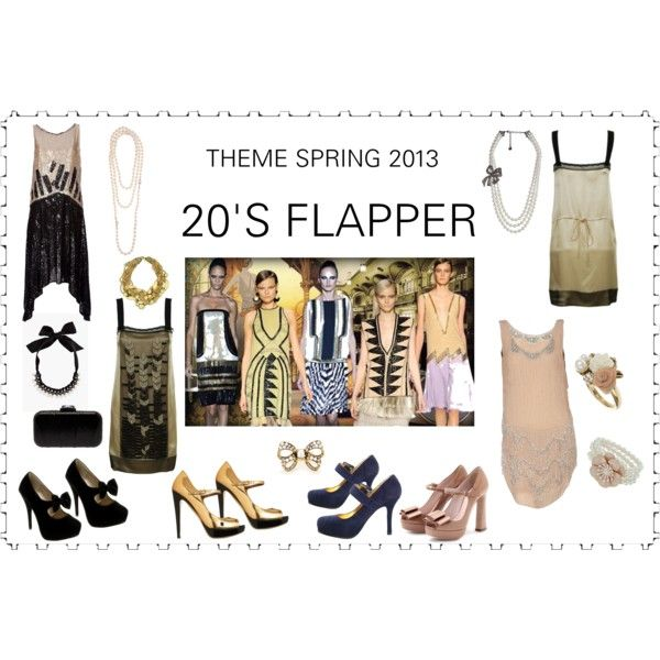 """""""THEME SPRING 2013 > > > 20'S FLAPPERS"""" by sylandrya on Polyvore"""