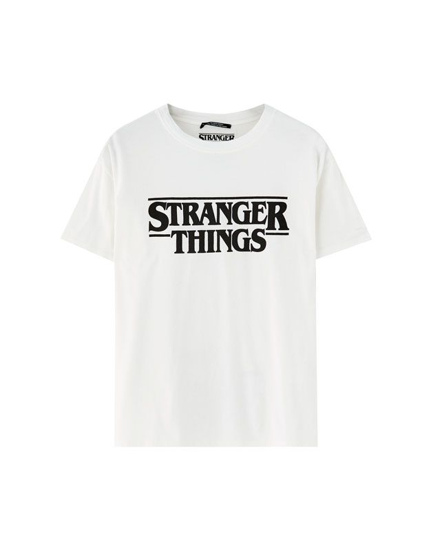 Minimalistic Design Womens T-Shirt IDcommerce Pink