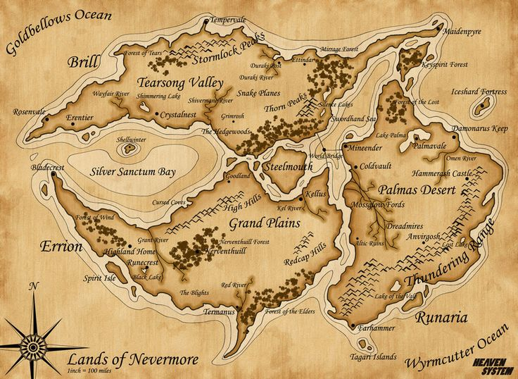 Map of Nevermore by *SozokuReed on deviantART
