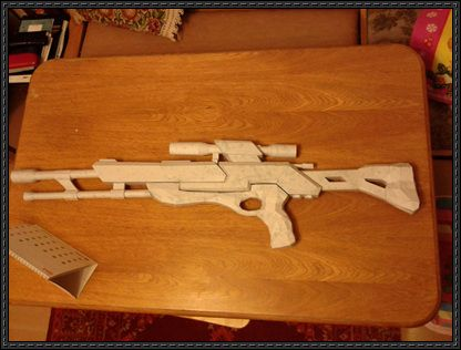 how to make a sniper rifle out of paper