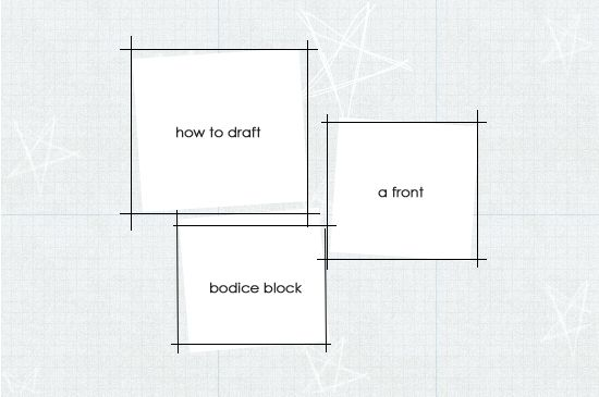 How to Draft a Front Bodice Sloper and Other Drafting Tutorials here: http://www.madalynne.com/pattern-making/
