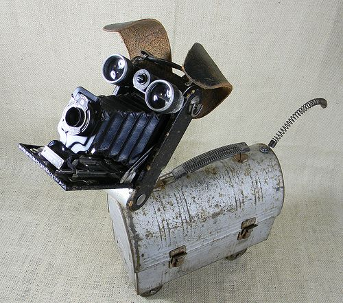 SCRUFFY - robot dog assemblage sculpture - Reclaim2Fame