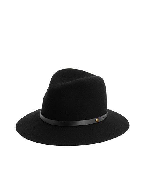 rag & bone Official Store, Floppy Brim Fedora - Black, black fl, Womens : Accessories : Fedoras, W000129AC