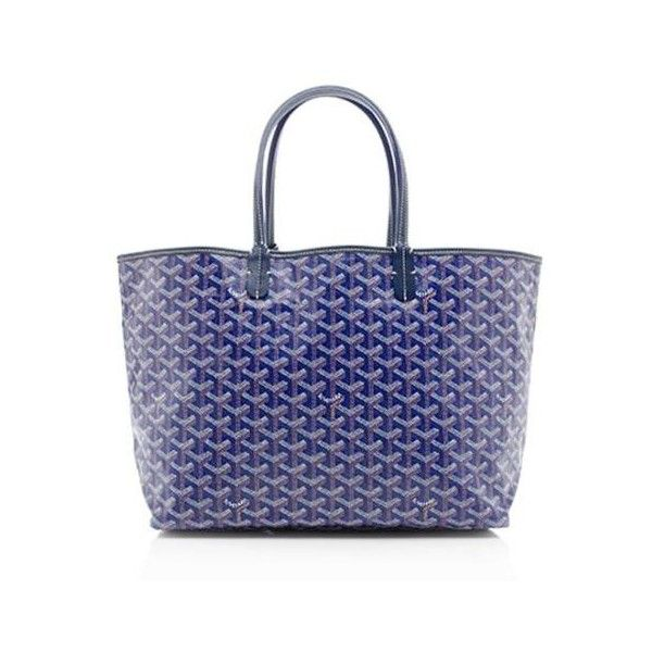 Rental Goyard St. Louis PM Tote (1.900 ARS) ❤ liked on Polyvore featuring bags, handbags, tote bags, blue, canvas tote bag, canvas handbags, blue handbags, blue purse and goyard handbags
