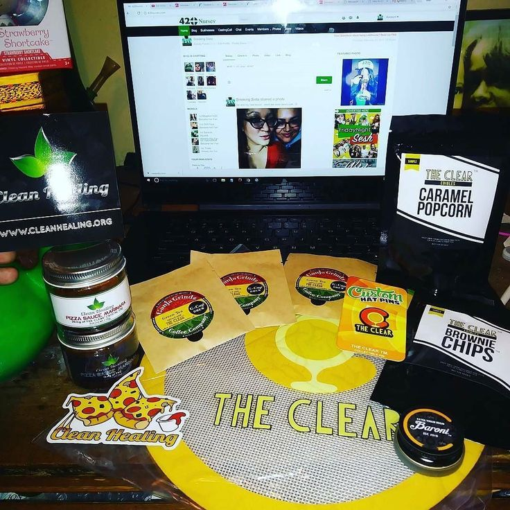 A wonderful pic of the #clearfam goodies from our 10k Pizza Party! What will we do for 20k?! @Regrann from @smoking.sista - ...as i am updating my profile on @420nurses  i am #gushing on my come #uppins from the @clean.healing #shindig last night...#pizza #party was off the chain not to mention the #plethora of samples of #baroni #virginrosin so you know it was #littycity and you know this #ghodess was lit af...tytyty again to all who made last night happen...#slothgoddess #cannabiscommunity…