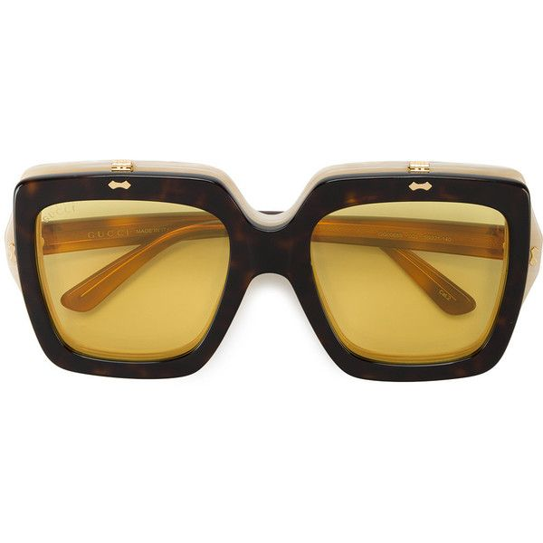 Gucci - oversized flip-up sunglasses - women - Acetate - One Size ($585) ❤ liked on Polyvore featuring accessories, eyewear, sunglasses, flip up sunglasses, oversized glasses, gucci glasses, acetate sunglasses and over sized sunglasses