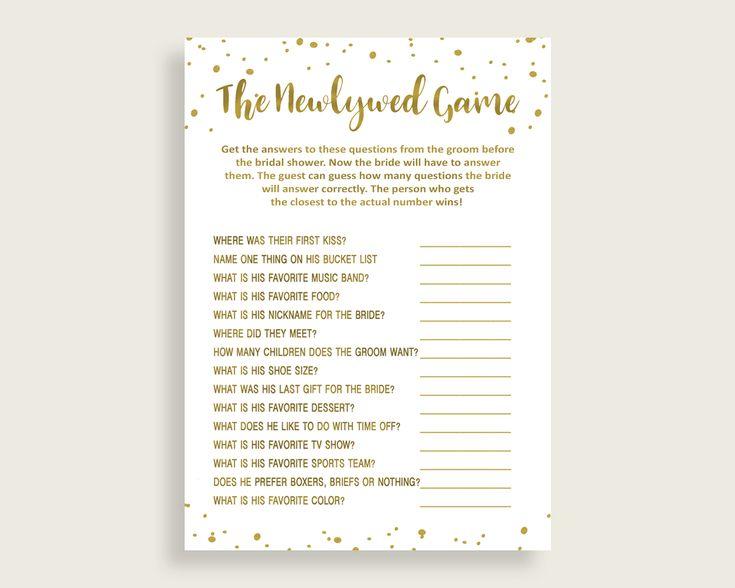 The Newlywed Game Bridal Shower The Newlywed Game Gold Bridal Shower The Newlywed Game Bridal Shower Gold The Newlywed Game Gold White G2ZNX #bridalshower #bridetobe