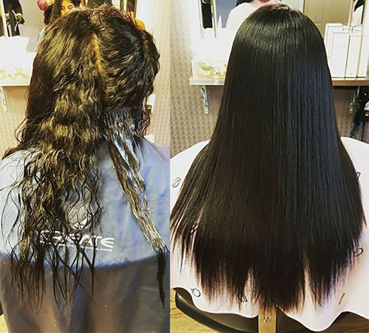 Sample pictures of the customer who had Japanese straight perm at momo hair salon in Toronto