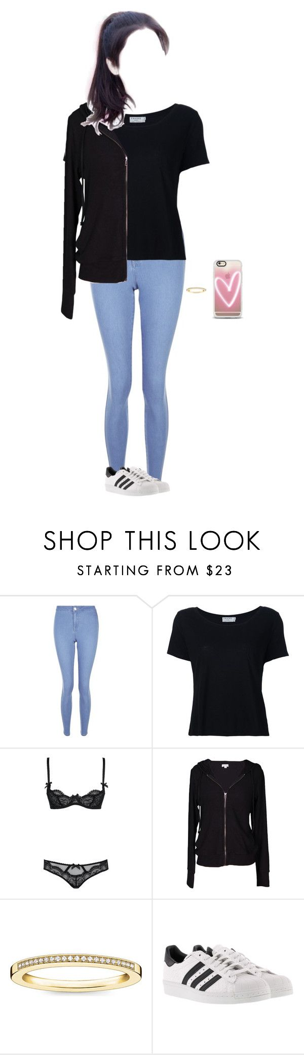 """""""Audition To Starship Entertainment"""" by lee-soohyun ❤ liked on Polyvore featuring New Look, Frame, L'Agent By Agent Provocateur, Velvet by Graham & Spencer, Thomas Sabo, adidas and Casetify"""