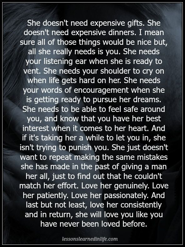 Lessons Learned in Life | She will love you like you have never been loved before.