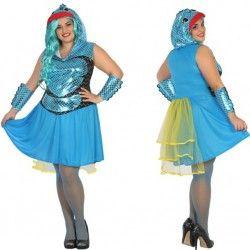 Disfraz #Pez #Azul para mujer #mercadisfraces #tienda de #disfraces #online disponemos de disfraces #originales perfectos para #carnaval.