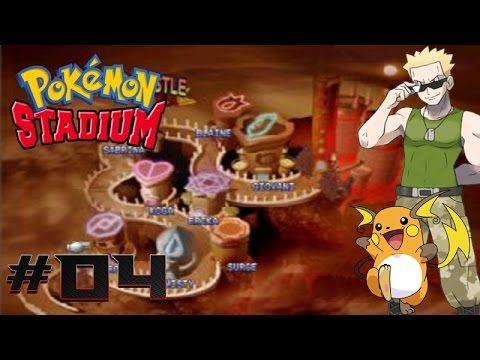Pokemon Stadium Walkthrough (HD) Part 4: Gym Castle Challenge #3 Lt. Surge!