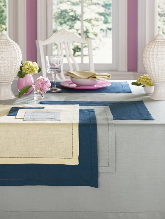 Mix and match the beautiful hues of SFERRA's 101 colors of Festival European-woven linens.