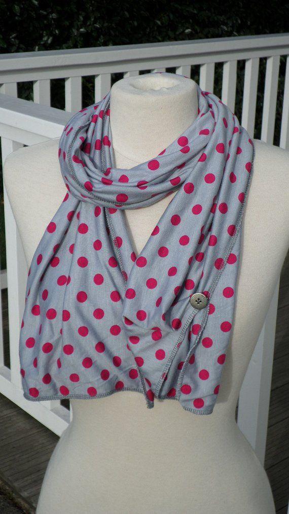 écharpe foulard étole châle cheche  femme  jersey viscose rose gris   créateur  lin eva nouvelle collection automne hiver 2018 pour femme 5c4a68781e3