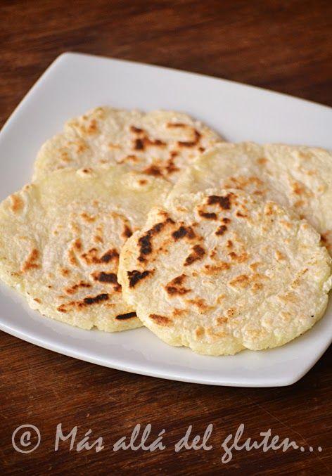 Más allá del gluten...: Arepas de Yuca (Receta GFCFSF, Vegana)