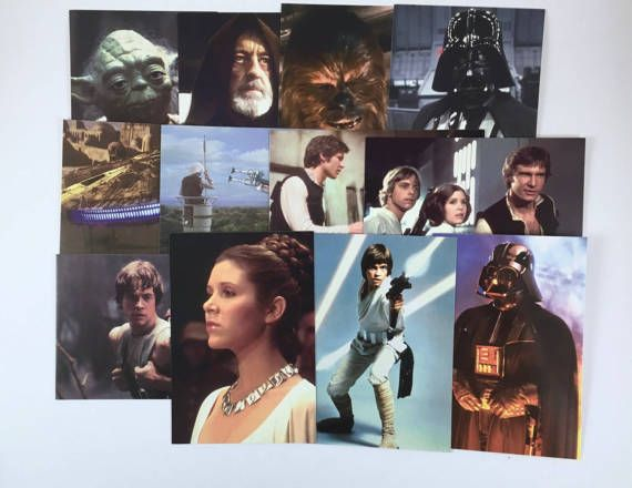 Vintage Star Wars Post Cards Princess Leia Luke Skywalker