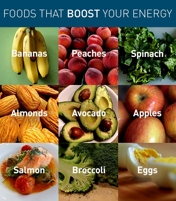 Stock up on these high energy foods to keep you active all day long.