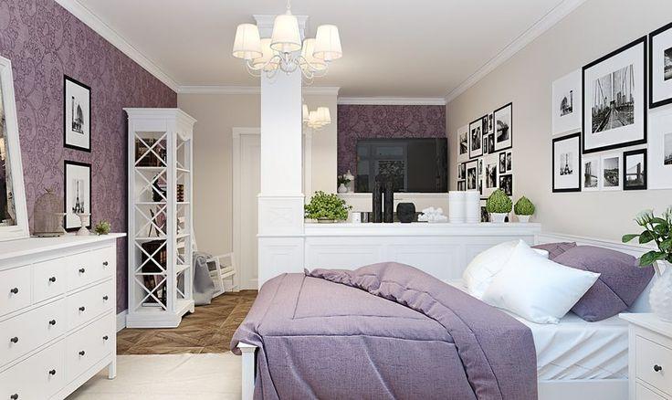 A kis lakás berendezésének és dekorációjának tervei arra mutatnak példát, hogy hogyan lehet praktikusan szervezni a teret egy kétszobás lakásban - ebben az esetben a meglévő falak áthelyezése nélkül. A nappali és hálószoba egy légtérbe került, a konyha és étkező foglalja el a másik helyiséget.