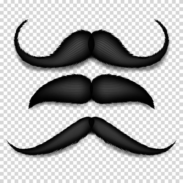 Mustache Isolated Vector Black Vintage Moustache Retro Collection Isolated On Transparent Background Illustration Background Barber Beard Png And Vector With Png