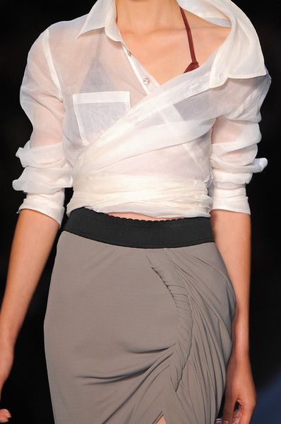 Fashion details | Comment: Sheer Madness in Twists & Turns. Jean Paul Gaultier